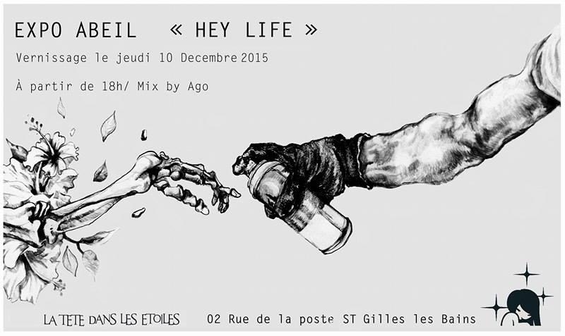 Hey Life - La Tête Dans les Etoiles, exposition, ile de la Réunio, Abeil, 974