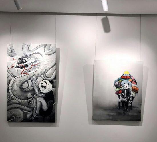 Opening jardin orange group exhibition.à Shenzhen (Chine) mars 2017